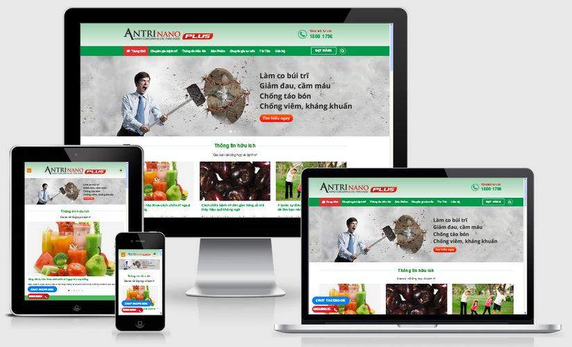 Fullcode website công ty dược phẩm FC029 1