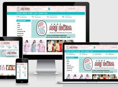 Fullcode website thời trang bà bầu FC069 17