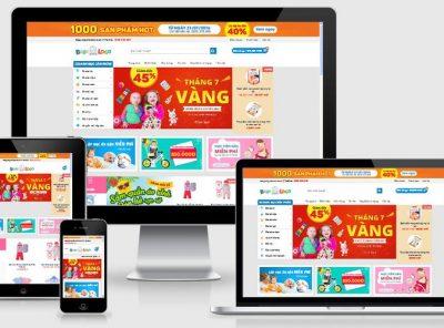 Fullcode website bán hàng trẻ em FC070 7
