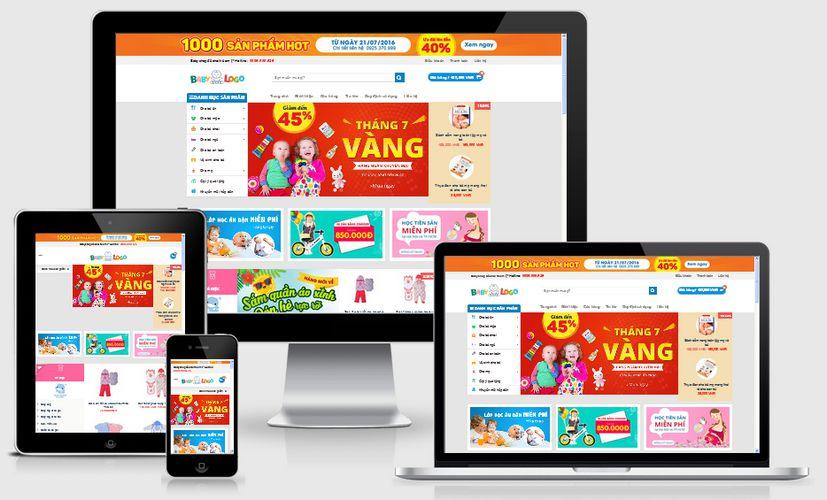 Fullcode website bán hàng trẻ em FC070 1