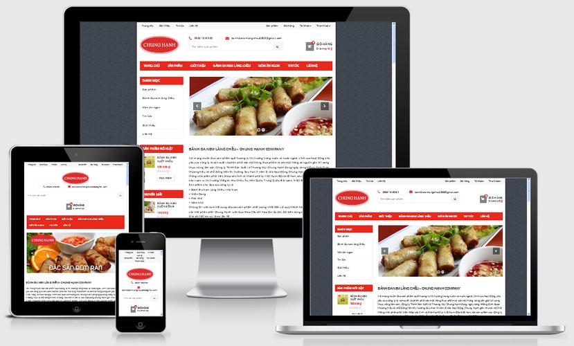 Fullcode website bán hàng đặc sản FC010 1