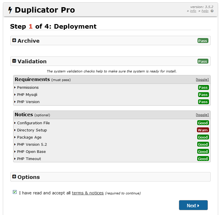 Hướng dẫn cài đặt website bằng Duplicator 11