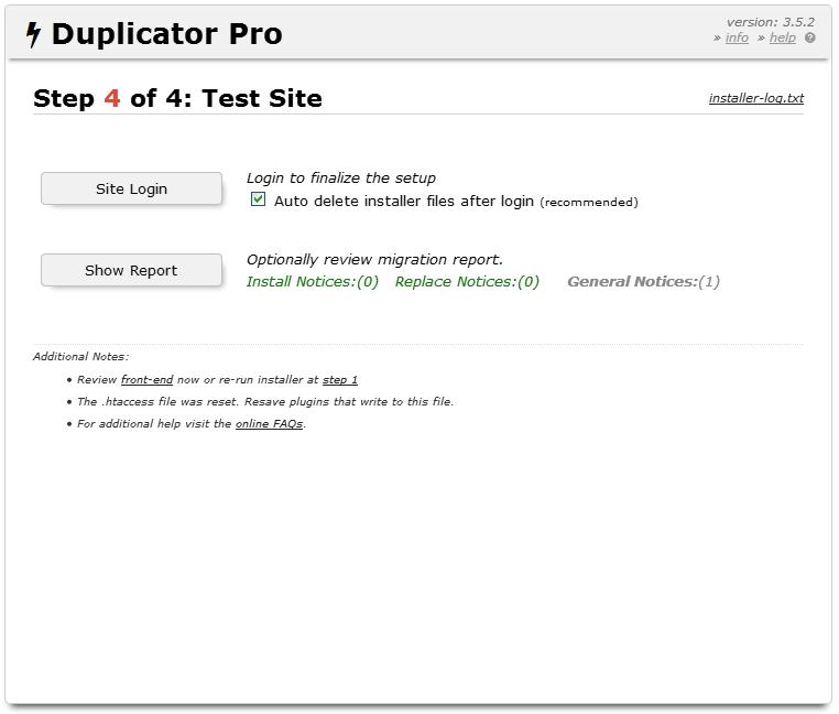 Hướng dẫn cài đặt website bằng Duplicator 17