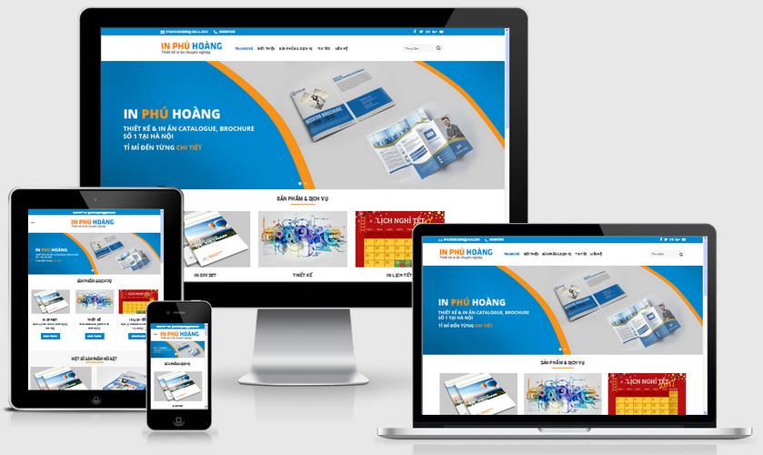Fullcode website công ty in ấn FC006 1