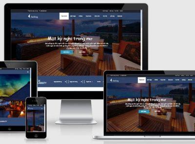 Fullcode website khách sạn đẹp FC046 2