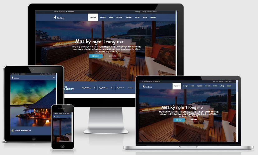 Fullcode website khách sạn đẹp FC046 1
