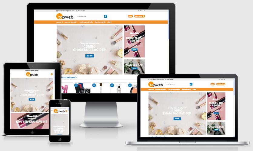 Fullcode website bán hàng mỹ phẩm FC001 1