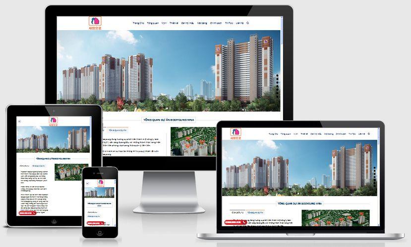 Fullcode website nhà đất đẹp FC060 1
