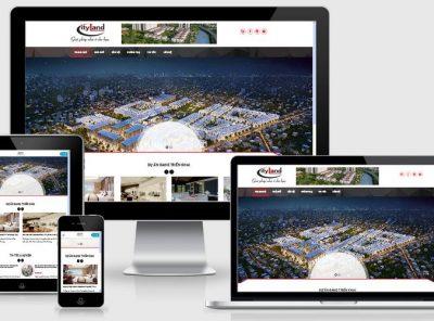 Fullcode website bất động sản đẹp FC055 4