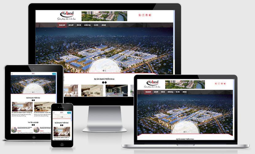 Fullcode website bất động sản đẹp FC055 1