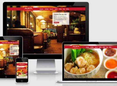 Fullcode website nhà hàng đẹp FC048 7
