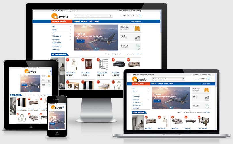 Fullcode website bán hàng nội thất FC022 1