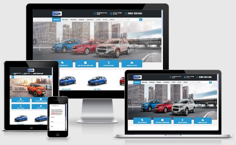 Fullcode website ô tô xe hơi FC064 1
