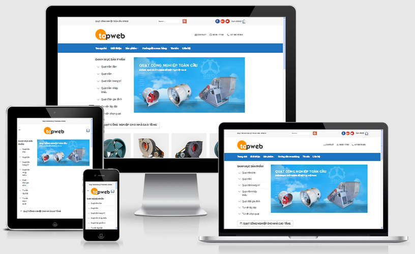 Fullcode website bán quạt điện FC015 1