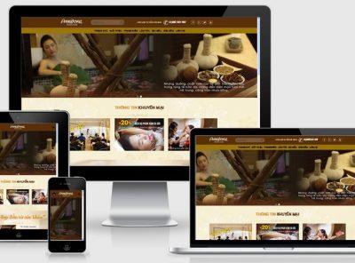 Fullcode website salon làm đẹp FC077 7