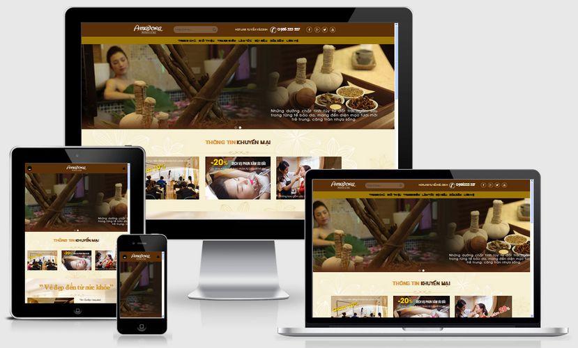 Fullcode website salon làm đẹp FC077 1