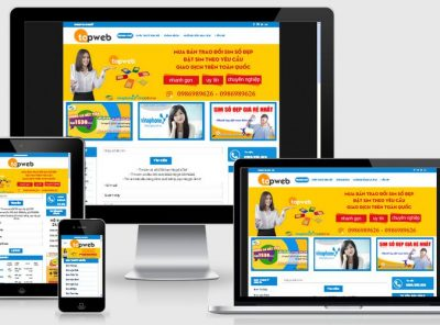 Fullcode website bán sim số đẹp FC086 6
