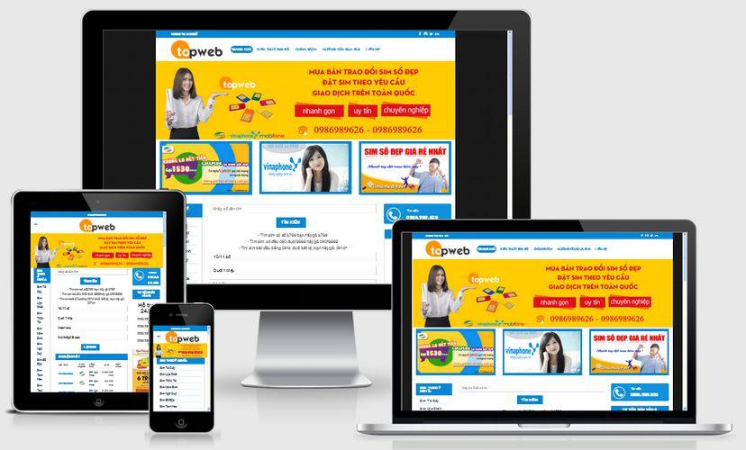 Fullcode website bán sim số đẹp FC086 1