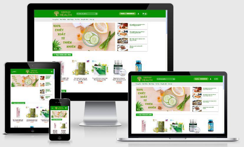 Fullcode website thực phẩm chức năng FC032 1