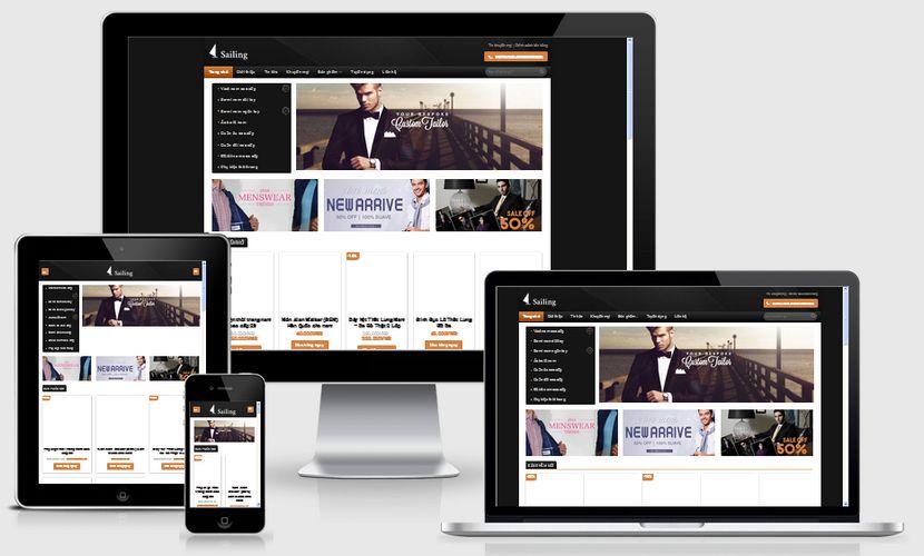 Fullcode website thời trang nam đẹp FC078 1