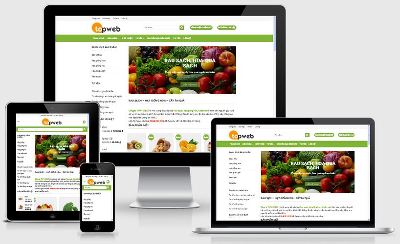 Fullcode website bán hàng thực phẩm FC018 1