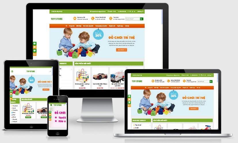 Fullcode website đồ chơi trẻ em FC080 1
