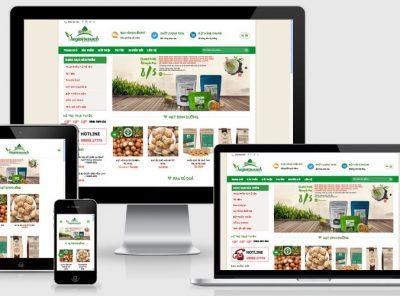 Fullcode website bán hàng nông sản FC065 2