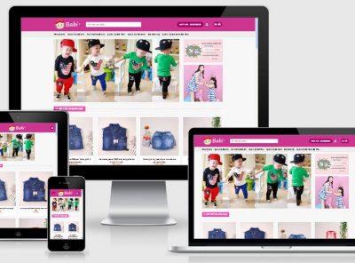 Fullcode website bán hàng trẻ em FC033 3