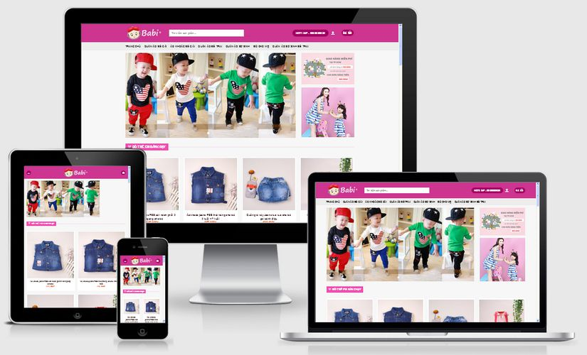 Fullcode website bán hàng trẻ em FC033 1