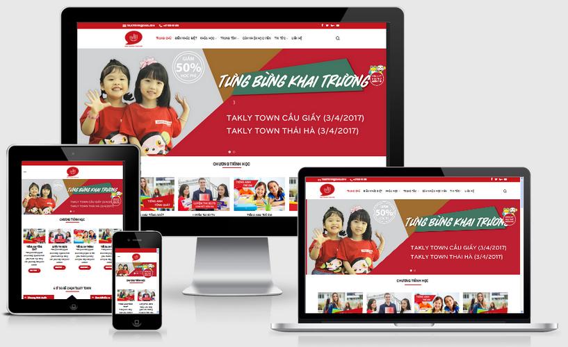 Fullcode website trung tâm anh ngữ FC012 1