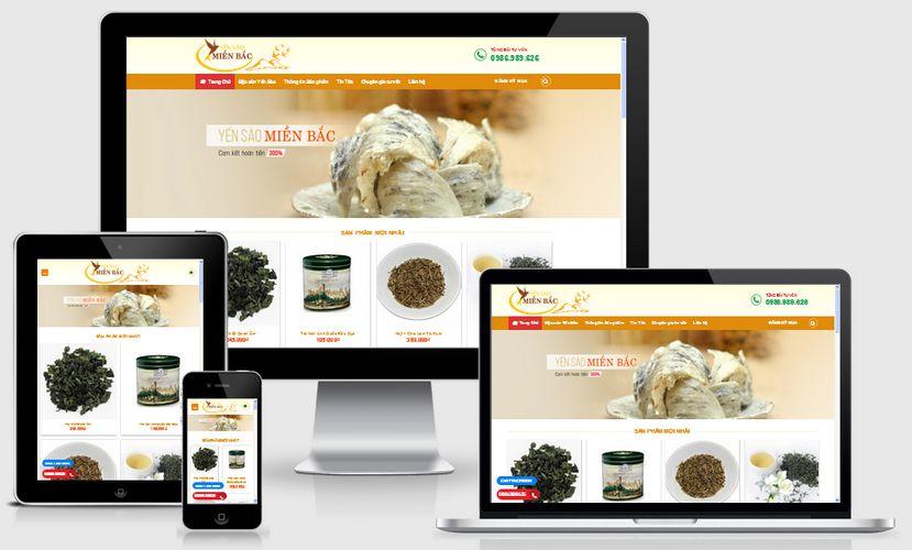 Fullcode website bán yến sào FC083 1