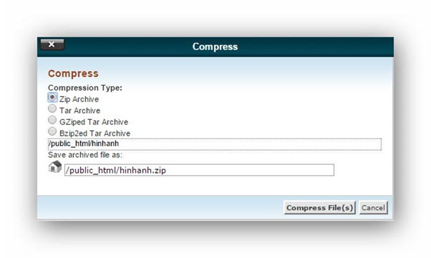 Quản lý tập tin/thư mục trên host dùng cPanel 17