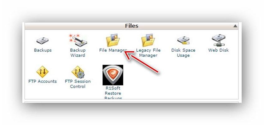 Quản lý tập tin/thư mục trên host dùng cPanel 1