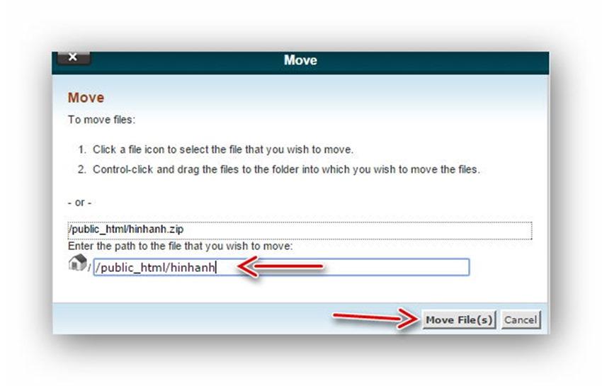 Quản lý tập tin/thư mục trên host dùng cPanel 21