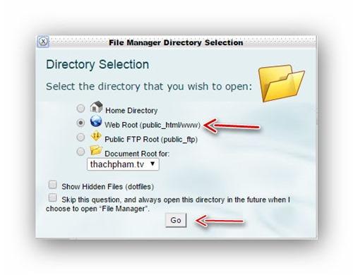 Quản lý tập tin/thư mục trên host dùng cPanel 2