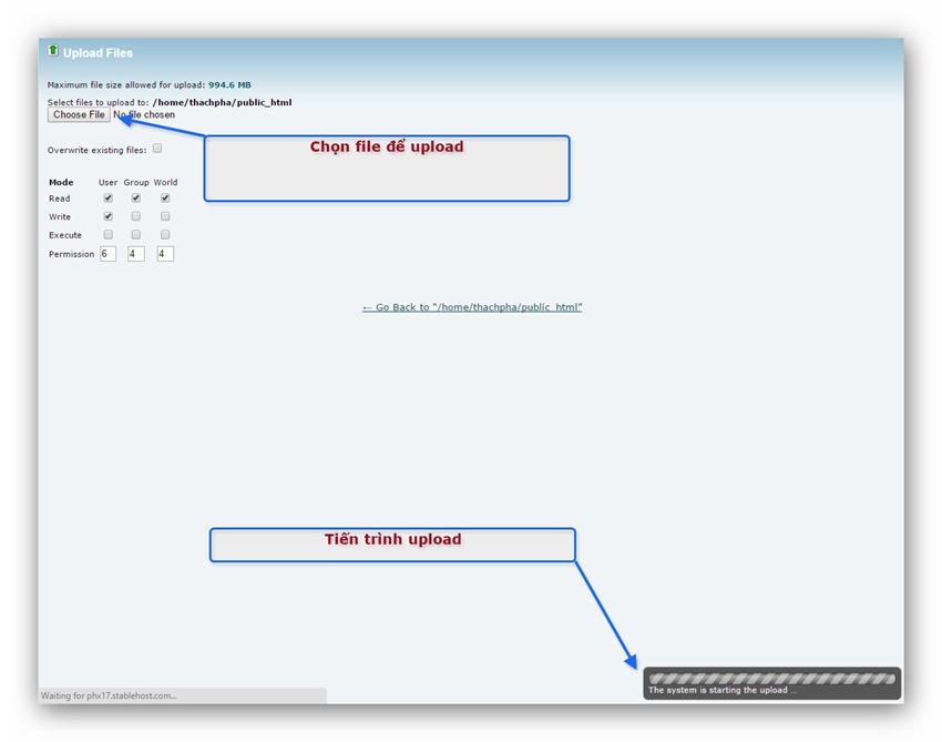 Quản lý tập tin/thư mục trên host dùng cPanel 5