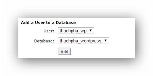 Cách tạo database trên host dùng cPanel 6