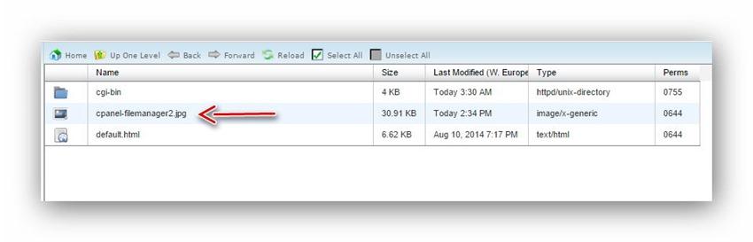Quản lý tập tin/thư mục trên host dùng cPanel 6