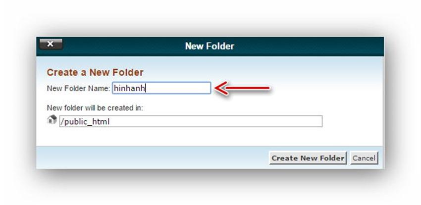 Quản lý tập tin/thư mục trên host dùng cPanel 9