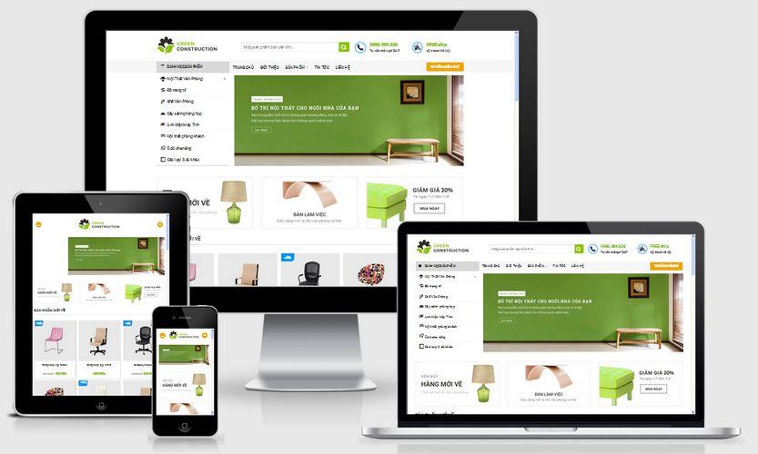 Fullcode website bán nội thất FC104 1