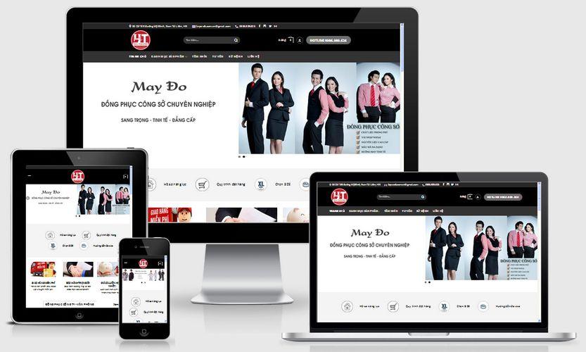 Fullcode website bán đồng phục FC105 1