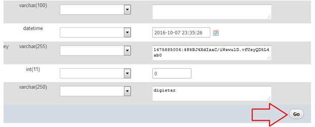 Cách lấy lại mật khẩu Wordpress trong phpmyadmin 5