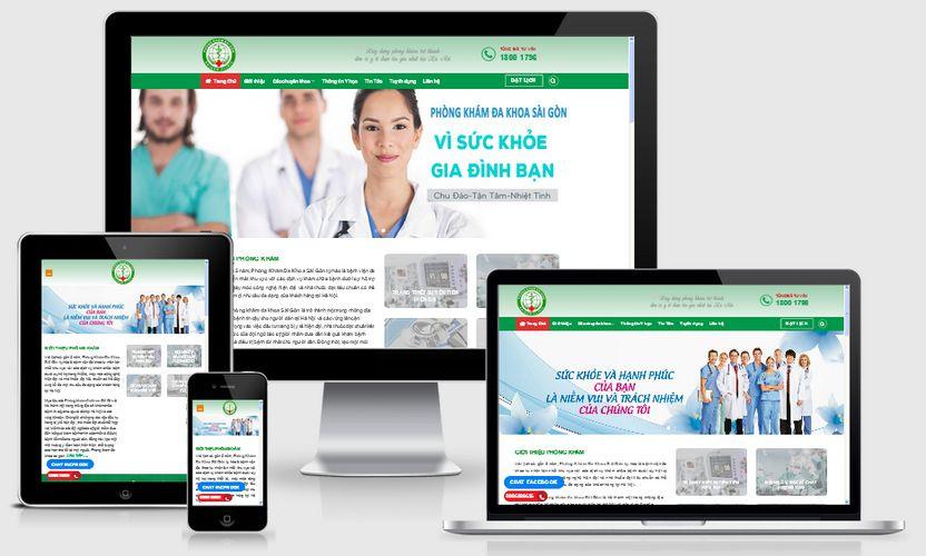 Fullcode website phòng khám đa khoa FC120 1