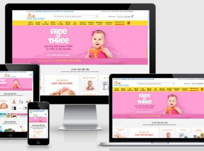 Fullcode website bán hàng mẹ bé FC111 3