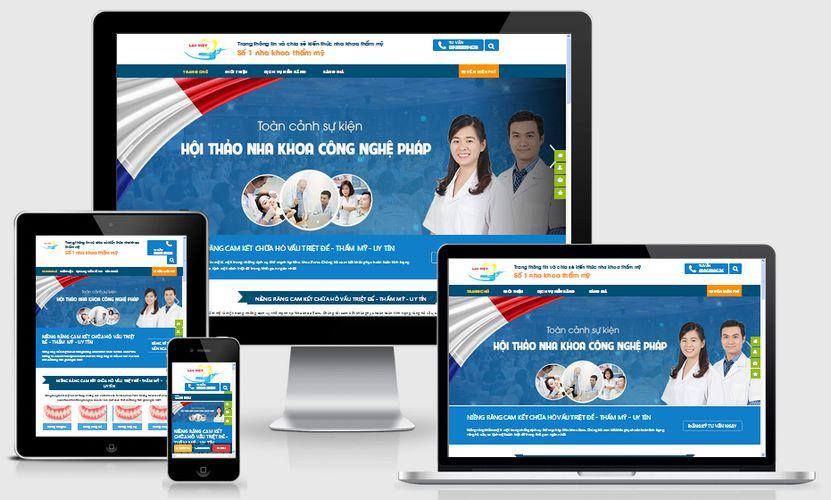 Fullcode website phòng khám nha khoa FC113 1