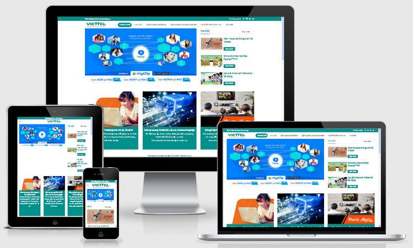 Fullcode website dịch vụ viễn thông FC116 1