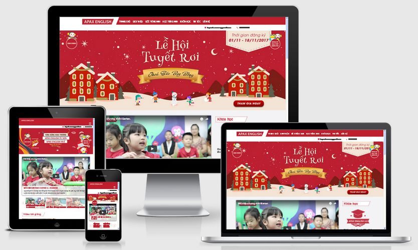 Fullcode website trung tâm anh ngữ FC136 1