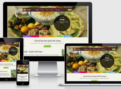 Fullcode website nhà hàng Ga98 đẹp FC145 9