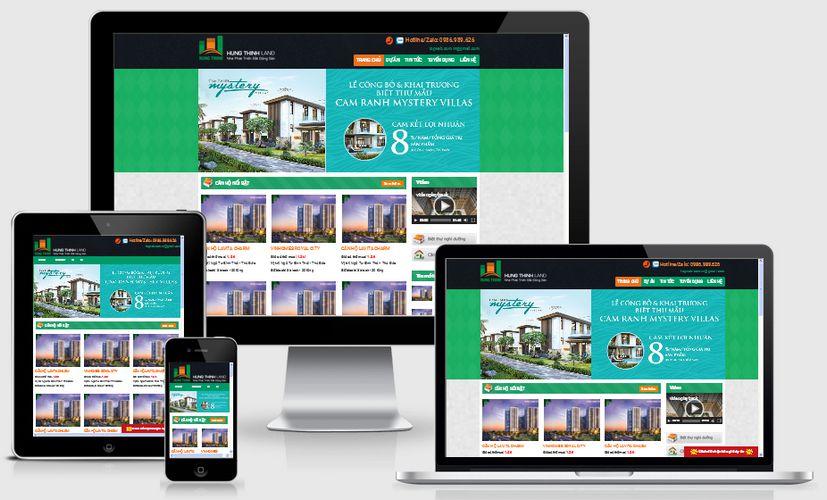 Fullcode website bất động sản đẹp FC131 1