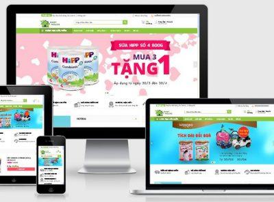 Fullcode website TMĐT mẹ và bé FC138 9